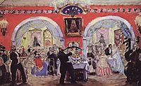 Merchant wedding, 1917, kustodiev