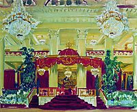 Nobility Assembly Hall in St. Petersburg, 1913, kustodiev