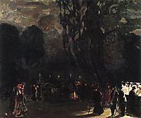 Paris at Night, 1909, kustodiev