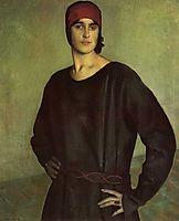 Portrait of the Artist Tatiana Chizhova, 1924, kustodiev
