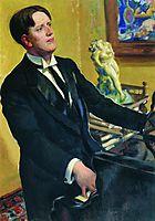 Portrait of the Composer D.V. Morozov, 1919, kustodiev