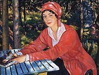 Portrait of Countess Grabowska, 1917, kustodiev