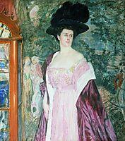 Portrait of A.D. Romanova, 1908, kustodiev