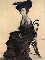 Portrait of E.A. Polevitskaya, 1905, kustodiev