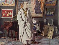 Portrait of F.F. Notgaft (Collector), 1918, kustodiev