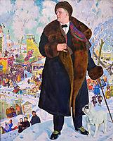 Portrait of Fyodor Chaliapin  , 1921, kustodiev