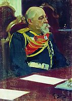 Portrait of a Governor-General of Finland N.I. Bobrikov , 1903, kustodiev