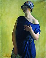 Portrait of I.B. Kustodieva, daughter of the artist, 1926, kustodiev