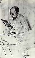 Portrait of I.A. Ryazanovsky, 1914, kustodiev