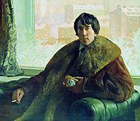Portrait of I. Zolotarevsky, 1922, kustodiev