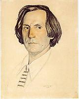 Portrait of Ivan Yershov, 1922, kustodiev