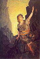 Portrait of Ivan Yershov, the role of Siegfried, 1908, kustodiev