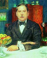 Portrait of Konstantin Somov, 1914, kustodiev
