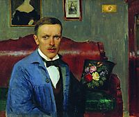 Portrait of L.P. Albrecht, kustodiev