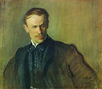 Portrait of L.P. Albrecht, 1905, kustodiev