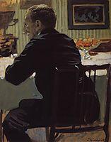 Portrait of L.S. Bakst, 1910, kustodiev