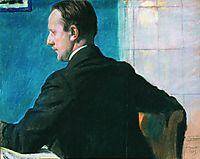 Portrait of M.V. Dobuzhinsky, 1913, kustodiev