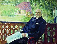 Portrait of N.A. Podsosov, 1906, kustodiev