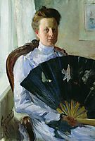 Portrait of A.N. Protasova, 1900, kustodiev