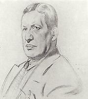 Portrait of Nikolay Monakhov, 1926, kustodiev