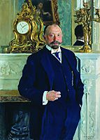 Portrait of P.L. Barc, 1909, kustodiev