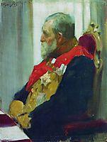 Portrait of P. Salomon, 1903, kustodiev