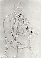 Portrait of P.A. Vlasov, 1925, kustodiev