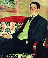 Portrait of Peter Kapitza  , 1926, kustodiev