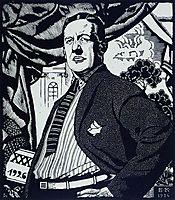 Portrait of Soviet actor Nikolay Monakhov, 1926, kustodiev