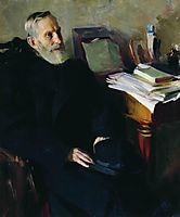 Portrait of Stjepan Nikolsky, uncle of the artist, 1901, kustodiev