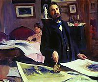 Portrait of Vasily Vasilyevich Mate, kustodiev