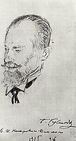 Portrait of Vladimir Nemirovich-Danchenko, 1915, kustodiev