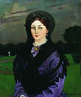 Portrait of a Woman, 1904, kustodiev