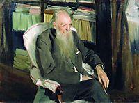Portrait of the writer D.L. Mordovtsev, 1901, kustodiev