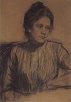 Portrait of Y.E. Proshinskaya, 1901, kustodiev