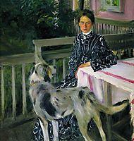 Portrait of Yulia Yevstafievna Kustodieva, the artist-s wife , 1903, kustodiev