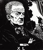 Portrait of Yuri Korvin-Krukovsky, 1926, kustodiev