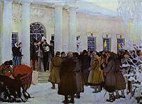 Reading of the Manifest, 1909, kustodiev