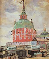 Red Tower of Troitse-Sergeevsky Lavra, 1912, kustodiev