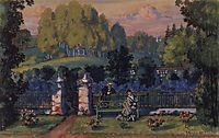 Scetch for Ostrovsky-s , 1915, kustodiev