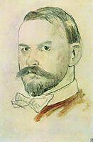 Self Portrait , 1904, kustodiev