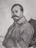Self Portrait , 1917, kustodiev