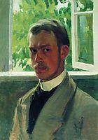 Self Portrait near the Window, 1899, kustodiev