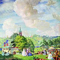 Summer holiday, 1922, kustodiev