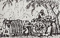 Tatar, who sells watermelons, 1924, kustodiev