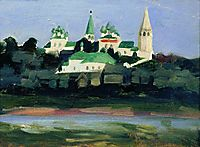 Twilight in Sudislavl, kustodiev