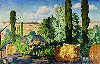 Ukrainian landscape, 1925, kustodiev
