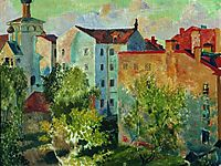 View from the window, 1926, kustodiev
