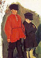 Village Boys, 1905, kustodiev