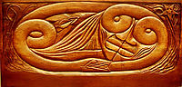 Existence, wooden bed panel, c.1894, lacombe